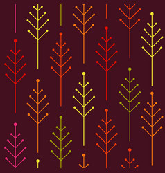 seamless autumn pattern with colorful abstract vector image vector image