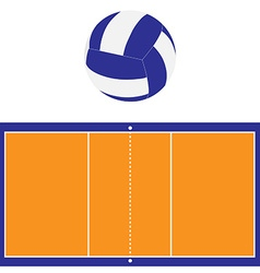 Volleyball court and ball vector