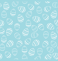 blue and white easter eggs pattern vector image vector image