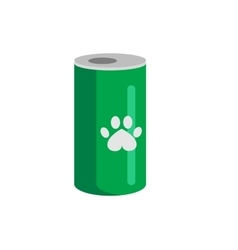 bottle of food for pets icon vector image vector image