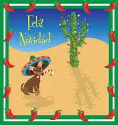 Christmas Chihuahua vector image