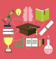 Education Item Flat Design vector image vector image
