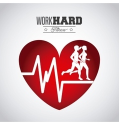 hard work design vector image vector image