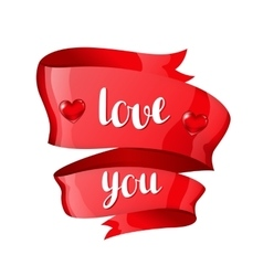 Love you happy valentine day greeting card with vector
