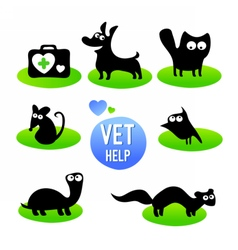 Veterinary clinic Pet vet help vector image