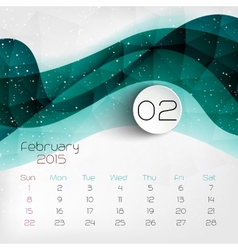2015 Calendar February vector image