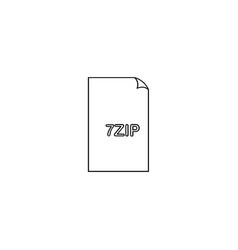 7 zip file icon vector