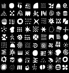 abstract symbols and signs - seamless vector image