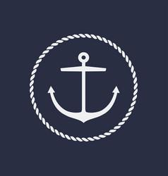 anchor emblem design vector image