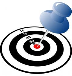 arrow target vector image