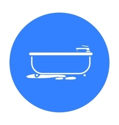 Bathtub icon in black style isolated on white vector