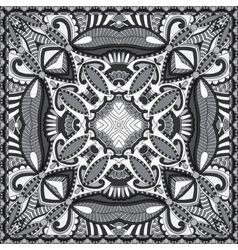 black and white authentic silk neck scarf or vector image
