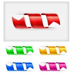 Bookmark ribbon vector
