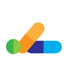 Capsule medicine logo designs icons vector