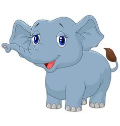 Cartoon happy elephant vector image