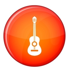 Classical guitar icon flat style vector