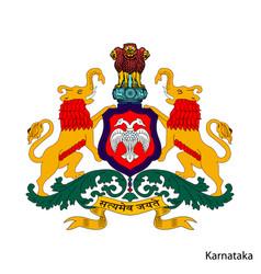 Coat arms karnataka is a indian region vector