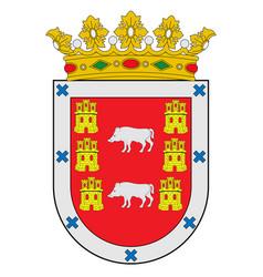Coat arms montanya alavesa in basque vector