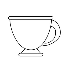 Coffee beverage in mug icon imag vector