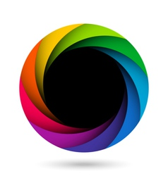 Colorful camera shutter aperture vector