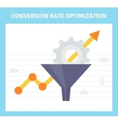Conversion optimization banner in flat style vector