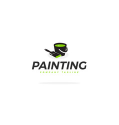 corporate painting logo vector image