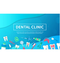 dental clinic poster design with text vector image