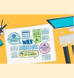 flat design concept for web design vector image