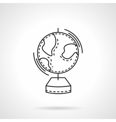 Geography flat line design icon vector image