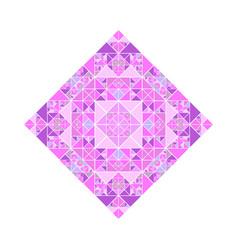 Geometrical polygonal triangular mosaic diagonal vector