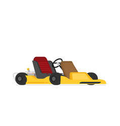 Go kart racing flat style vector