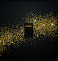 gold glitter background star dust shiny sparkles vector image