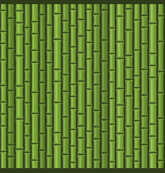 green seamless bamboo background pattern on dark vector image