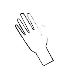 hand man human open showing five fingers vector image