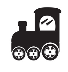 Isolated train toy icon vector