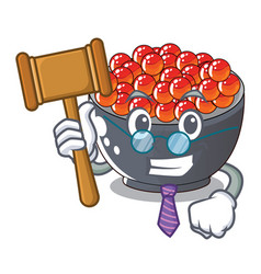 Judge salmon roe with isolated on mascot vector
