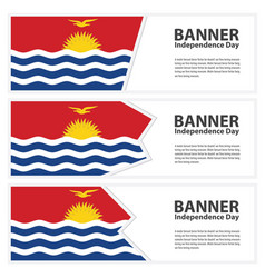 Kiribati flag banners collection independence day vector