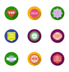Label set icons in flat style Big collection of vector image