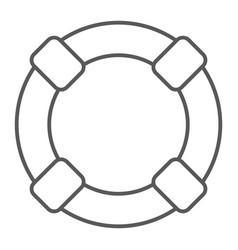 lifebuoy thin line icon sos and lifeguard vector image