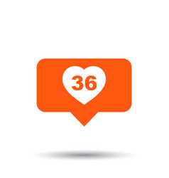 Like comment follower icon flat with speech vector