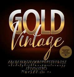 luxury emblem gold vintage vector image