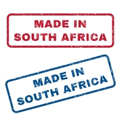 Made In South Africa Rubber Stamps vector