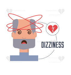 Man with heart atack symptoms and condition vector