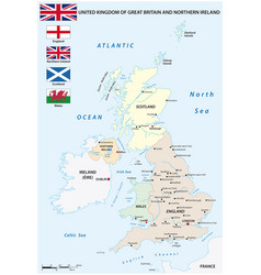 map countries united kingdom vector image