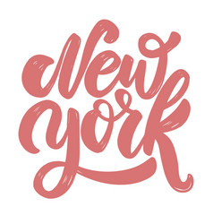 new york lettering phrase for postcard banner vector image