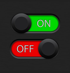 On and off toggle switch vector