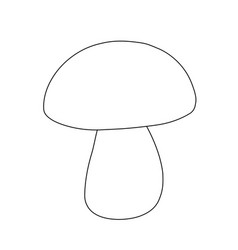 outline mushroom for coloring simple draw vector image