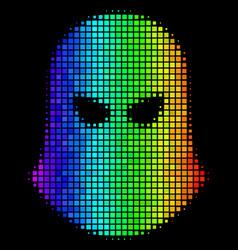 Rainbow dotted terrorist balaklava icon vector