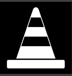 road cone white color icon vector image