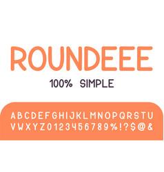 round brush sans serif font hand drawn artistic vector image